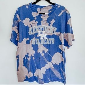 Kentucky UK Wildcats Bleached Tie Dye T-Shirt